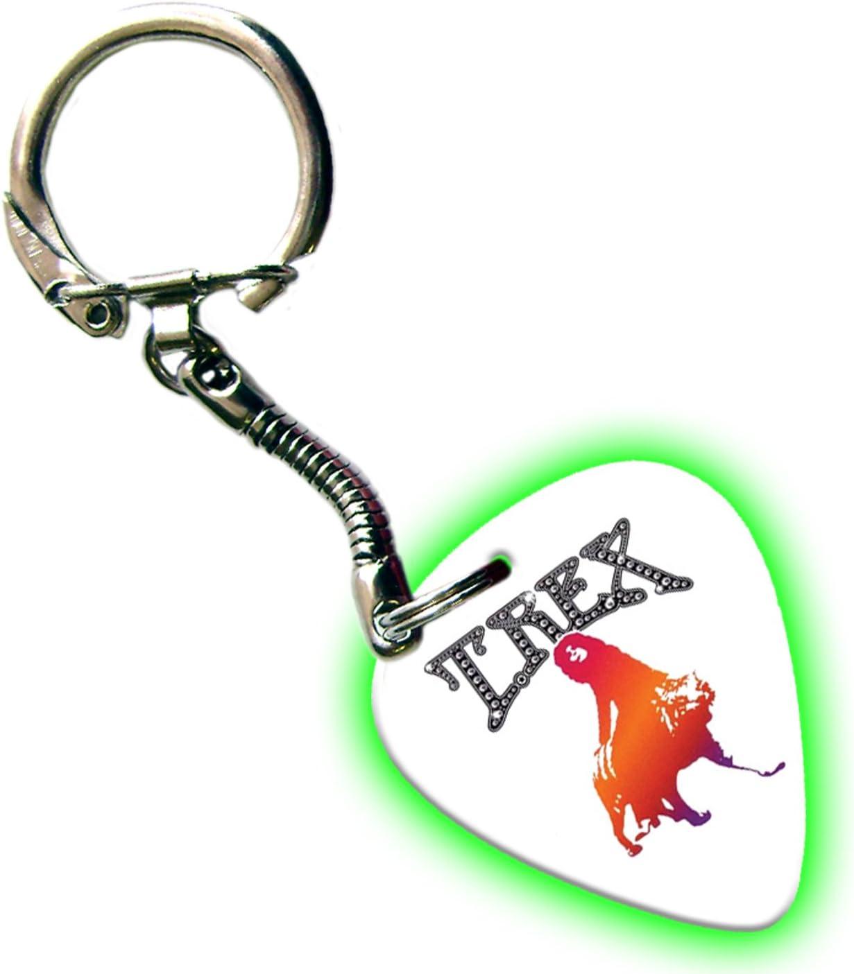 T Rex Marc Bolan Glow Guitar Pick Keyring Keychain Band Plectrum ...