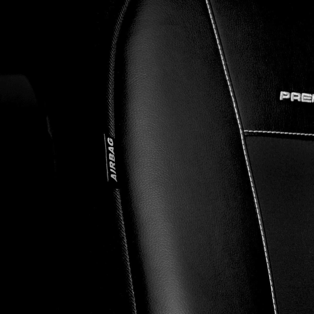 cucito su misura - Set coprisedili auto PREMIUM Nero PR2