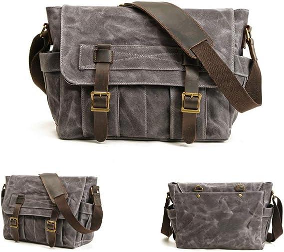 Jfzs Multifunktions Canvas Motorradtasche Seitentasche Satteltaschen Schulter Umhängetasche 1 Taschen 38 28 14 Cm Gray Küche Haushalt
