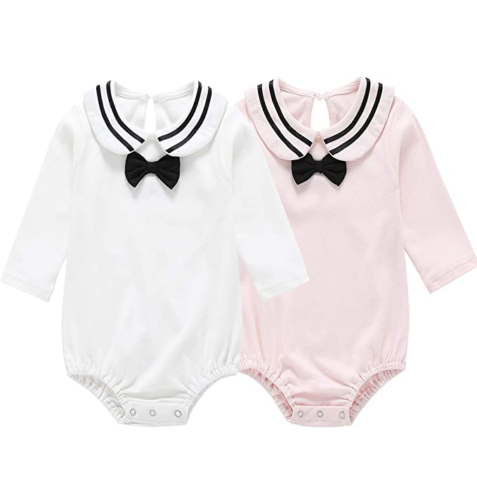 Dolphin House Baby Girls And Boys Long Sleeve Mitten Cuff Onesies Bodysuits Infant Organic Cotton Clothes