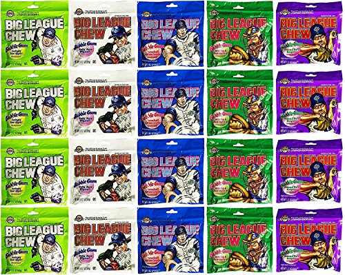 Big League Chew Bubble Gum Variety Pack 5 Flavors (Pack of (Big League Chew Bubble Gum)