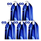 Blue Adult Superhero Capes and Masks for Team