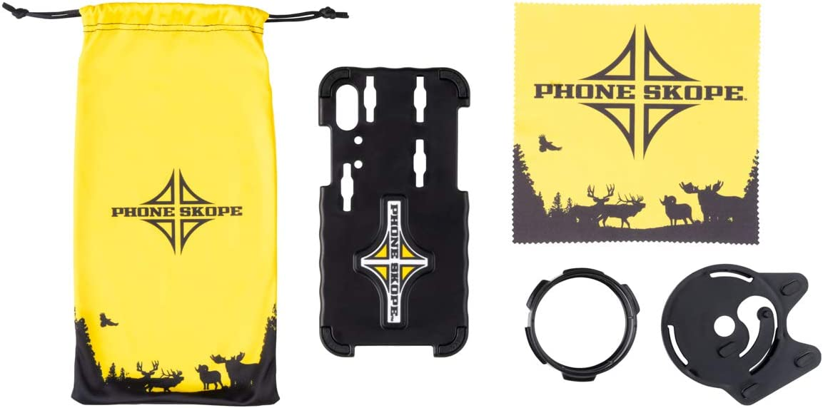 Phone Skope Complete Digiscoping Kit, Compatible with iPhones OR Samsung, Includes PhoneCase Eyepiece Adapter Lens Cloth