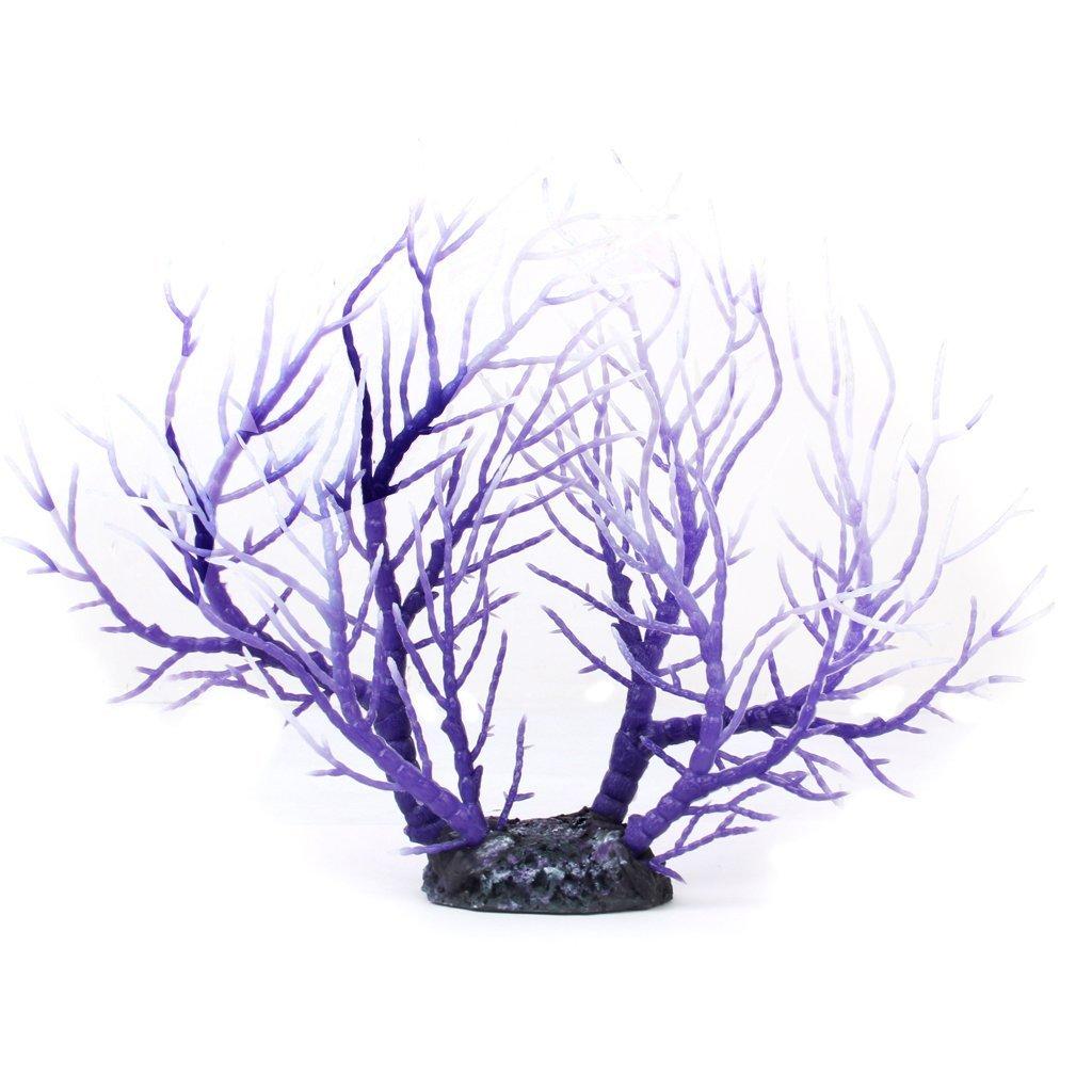 Planta de Acuario Romote artificial Coral Fish Tank ornamento púrpura blanca: Amazon.es: Hogar