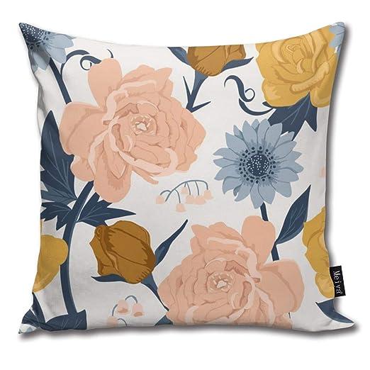 Zara-Decor - Funda de cojín Decorativa con diseño de Flores ...