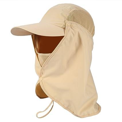 ee9f04c9c6a Amazon.com   Sun Caps Flap Hats