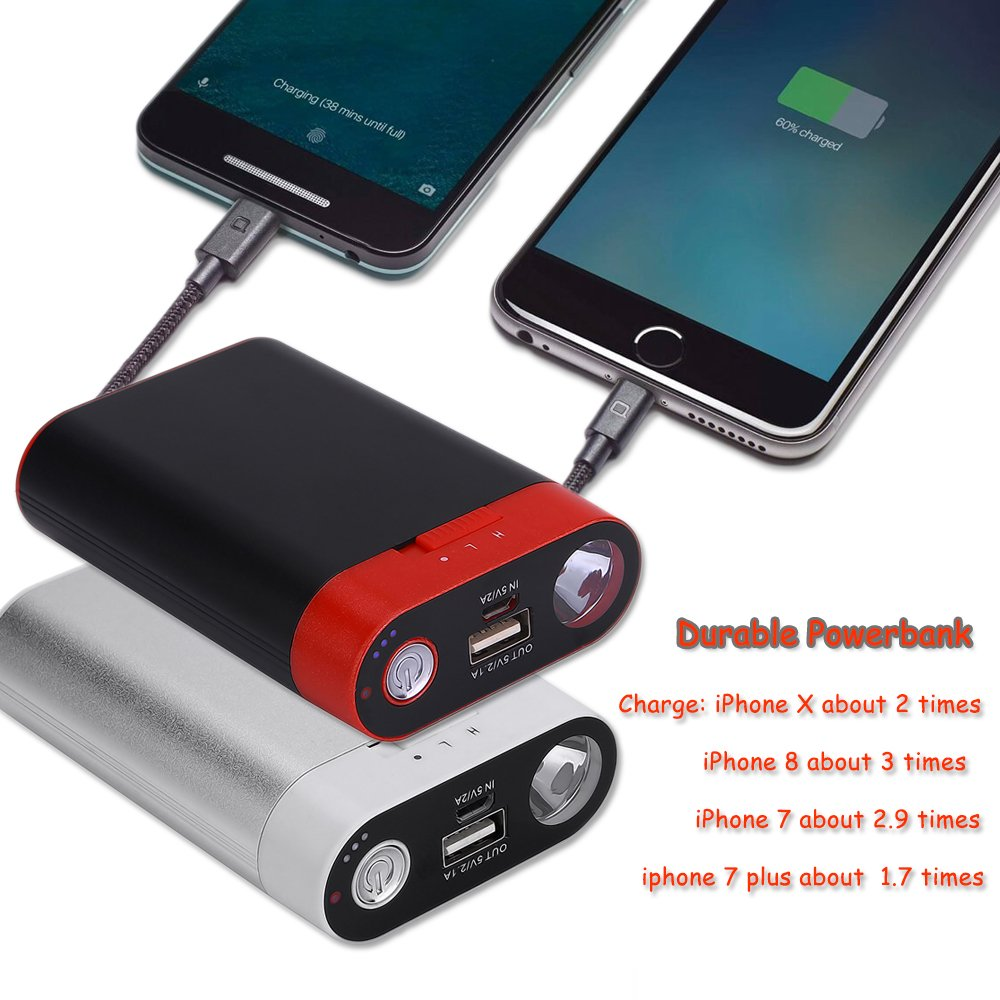 Portable Battery Charger LED Flashlight Cold Winter Reusable Handwarmers Alfway 4348689925 Rechargeable Hand Warmer Ewarmer Hand Warmers//Power Bank 5200mAh 5200mah Portable USB Hand Warmer//Power Bank 5200