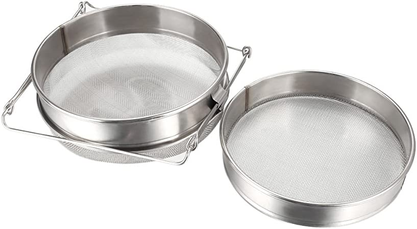 Double Sieve Stainless Steel Honey Strainer Extractor Filter Screen Mesh
