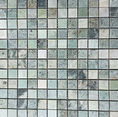 7/8 x 7/8 Ming Green Marble Onyx Polished Mosaic Tiles