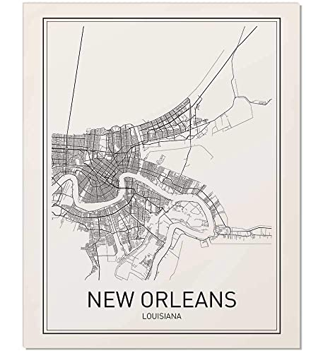 New Orleans Vintage Travel Poster 4 sizes, matte+glossy avail