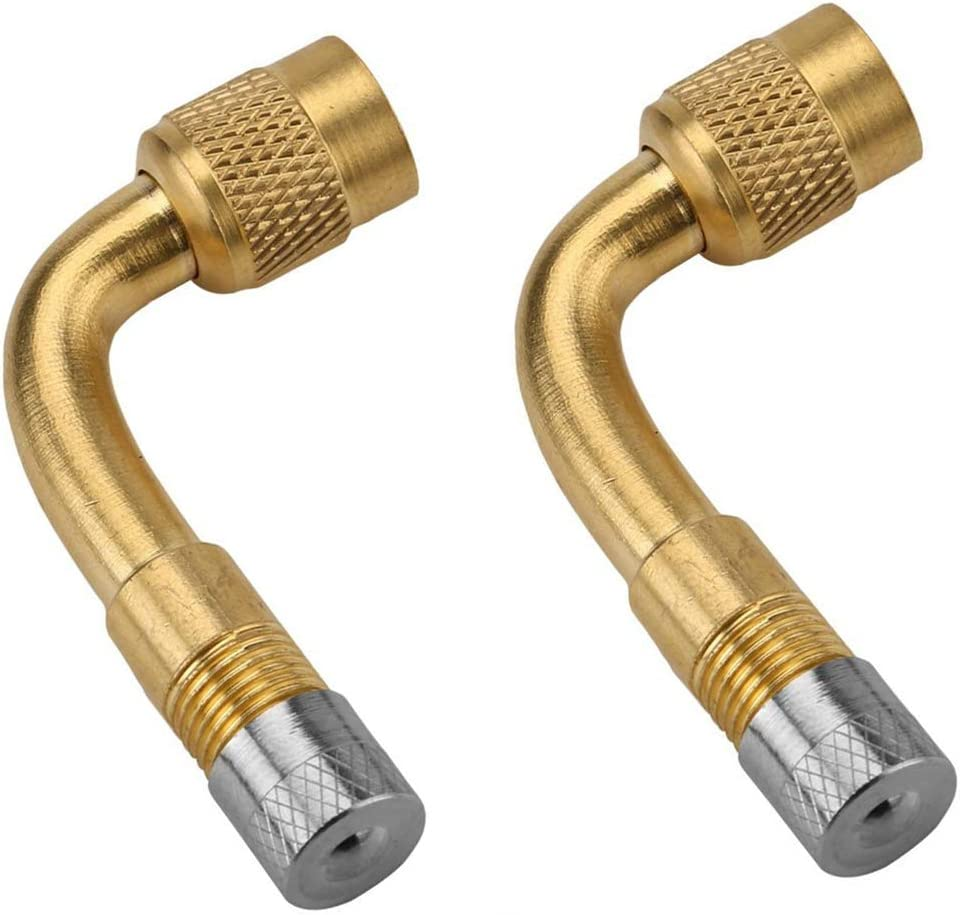 Trailers Vehicles Motorcycles Bicycles Stroller RV Frienda 3 Pieces 90 Degree Bend Tire Valve Extension Adapter Brass Valve Stem Extension Adaptor Valve Adapter for Passenger Cars