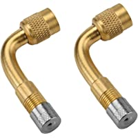 ILOVA 90 Degree Tyre Valve Extension Adaptor for Car Motorcycle Bike Scooter 2 Pack Universal Extenders