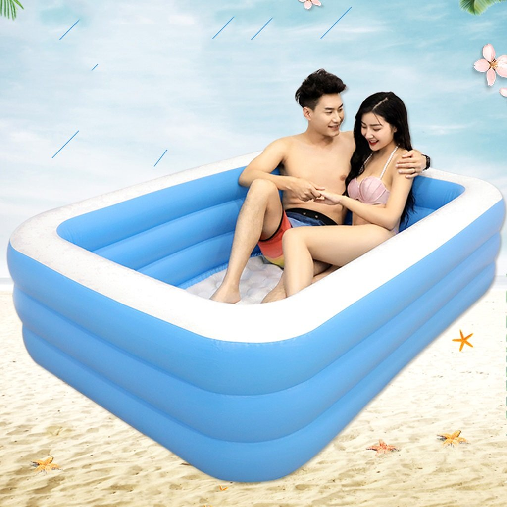 Bathtubs Freestanding Inflatable Bath Tub Adult Tub Stylish Home Bath Comfortable Folding Bath Tub Passion Double Couple Inflatable Blue Inflatable Relieve Fatigue