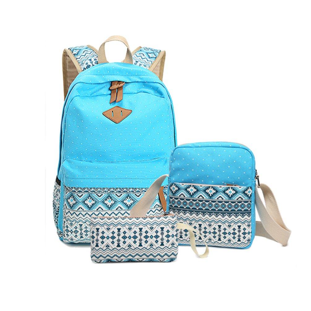 ... Laptop Bags Travel Bags Bookbag Shoulder Bags School Backpacks. 70%OFF  Junshion Canvas Cute Dot Backpack Set 3 Pcs aaf575da8d603