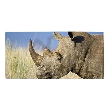 Machine Washable, Solid Animal Rhino Dishtowel 11.8 × 27.5 Inches