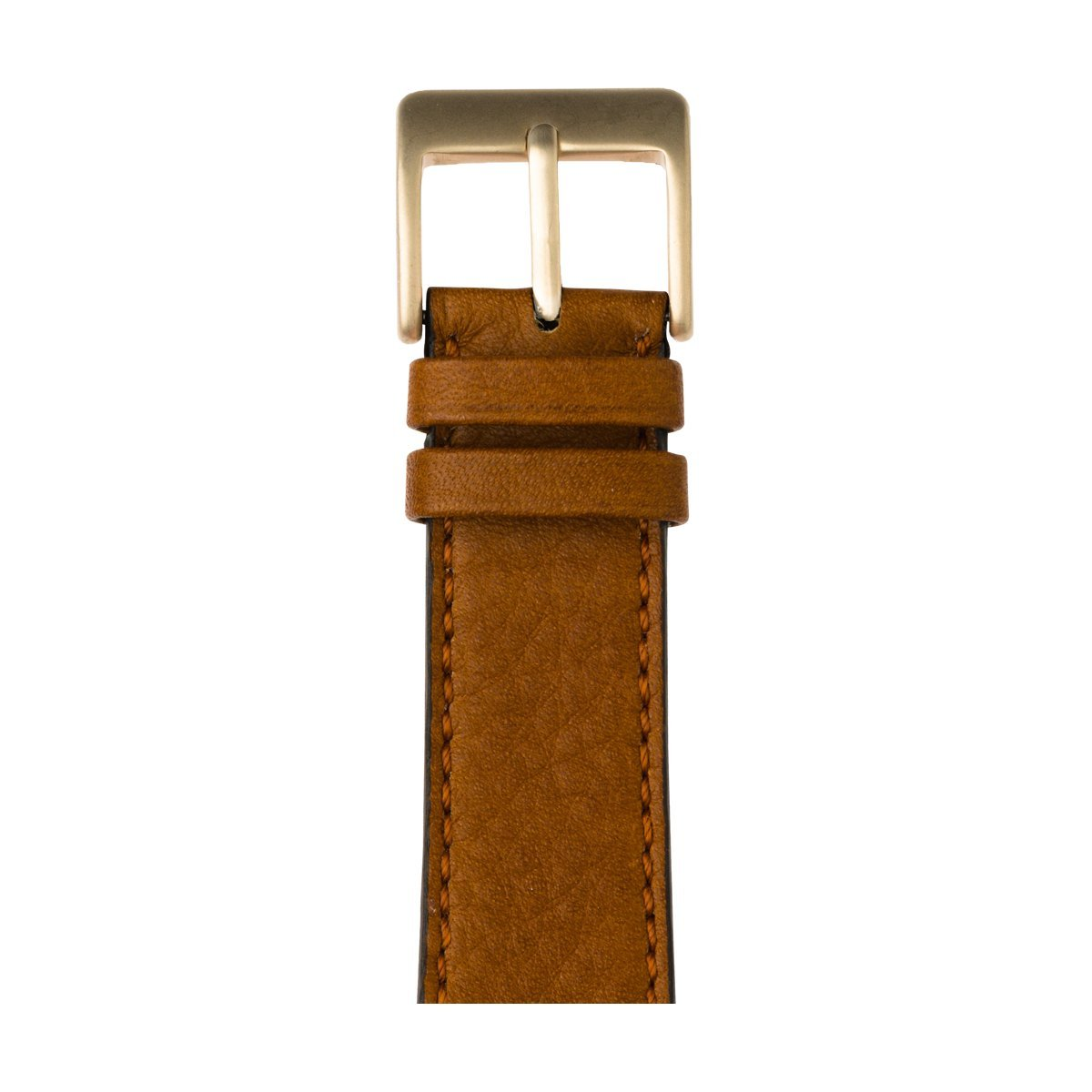 Roobaya | Premium Sauvage Leather Apple Watch Band in Cognac | Includes Adapters matching the Color of the Apple Watch, Case Color:Gold Aluminum, Size:38 mm