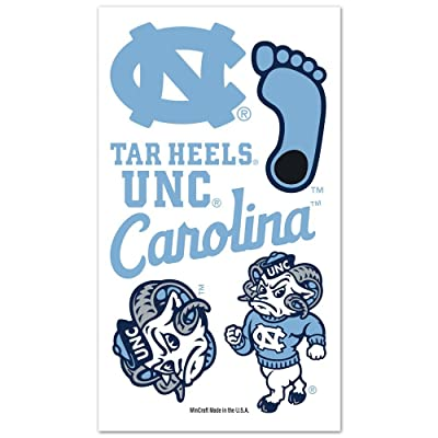 WinCraft NCAA North Carolina Tar Heels Temporary Tattoos, One Size, Team Color : Childrens Temporary Tattoos : Sports & Outdoors