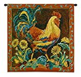 "Cheap Fine Art Tapestries ""Rooster Rustic Wall Tapestry"