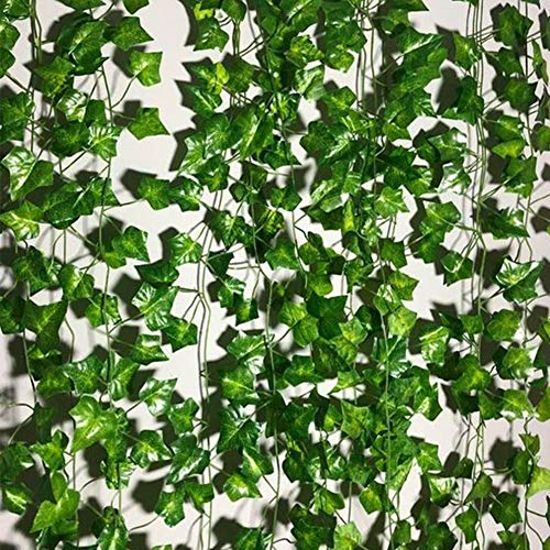 INFLORAL 36pcs (236 Feet) Artificial Flowers Ivy Fake Greenery Vine Leaves for Home Wedding Garden Swing Frame Decoration ()