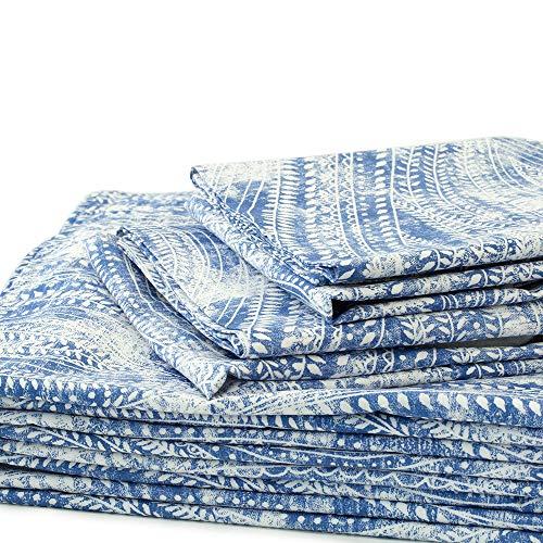 Vivaterra Ashbury Pailsey Sheet Set - King - Blue ()