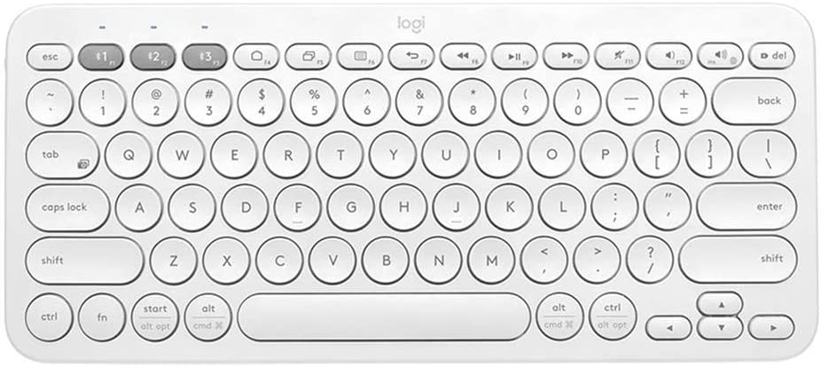 Logitech K380 Multi-Device Wireless Bluetooth Keyboard for Mac - Off White