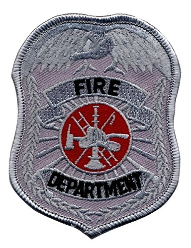 (Rayon/Polyester Blend FIRE Department Patch - Size 2-1/2 x 3-1/2