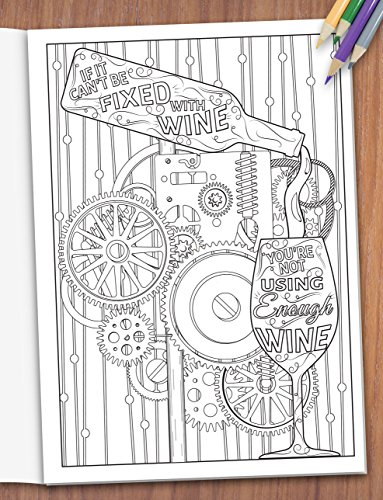 When Life Gets Complicated, I Wine - Funny Adult Coloring Book ...