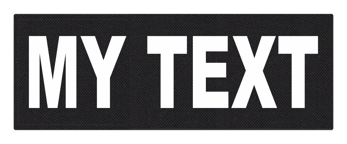 Custom Tactical ID Patch - 11x4, on 500 Denier Nylon Fabric with Hook Backing - Black by TACTICAL IDENTIFICATION PATCHES