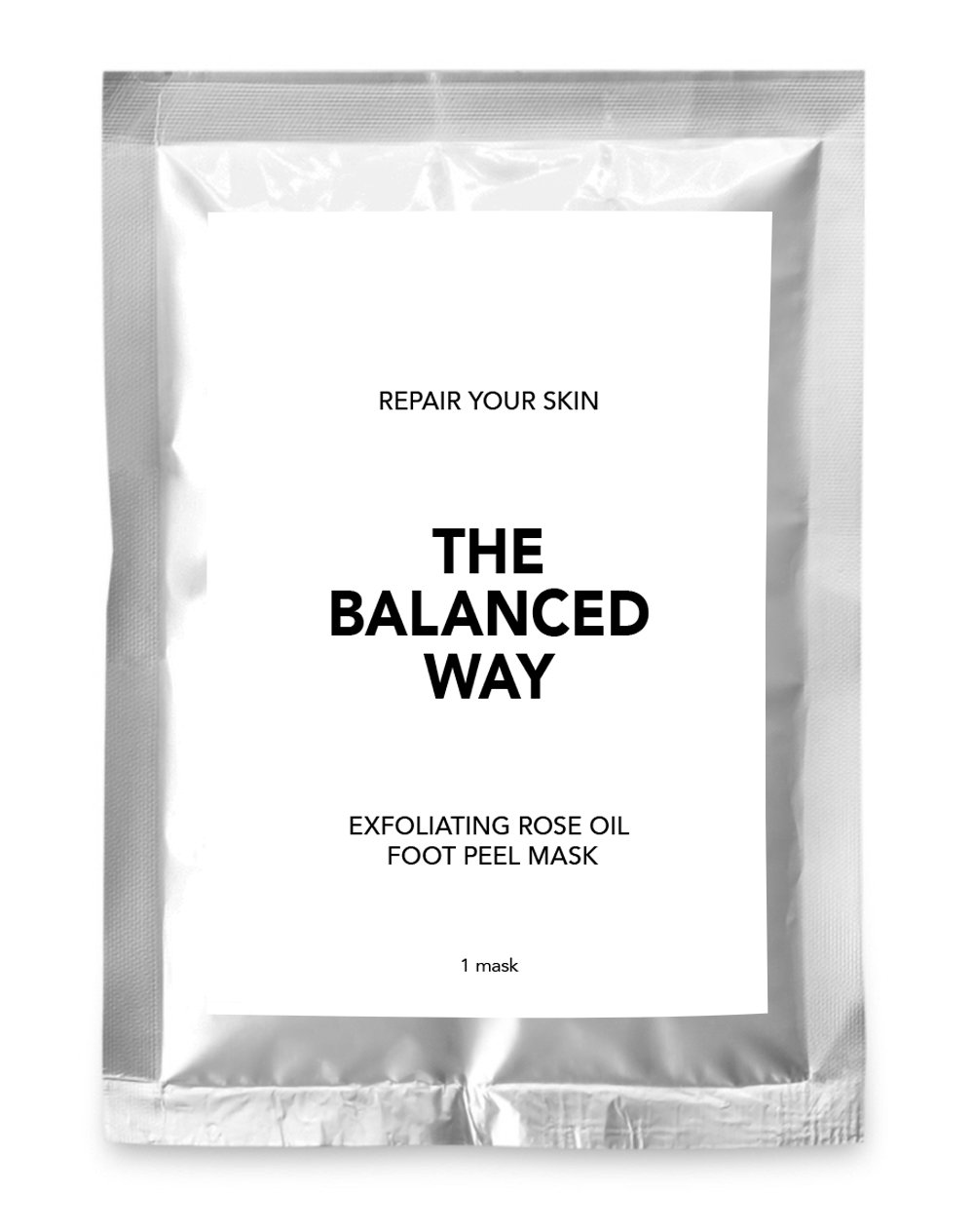 Foot Peel Mask - Super Exfoliating Socks with Rose Oil for Baby-Soft Feet - Removes Corns, Calluses and Dead Skin - Repairs Cracked Heals and Rejuvenates Tired Feet - Single Application, Easy to Use, One Size Fits All (1 Pair) The Balanced Way