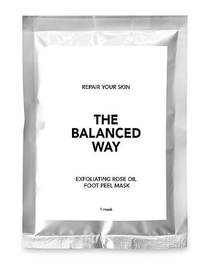 Calcetines exfoliantes - Súper máscara peeling con aceite esencial de rosas para pies suaves como de