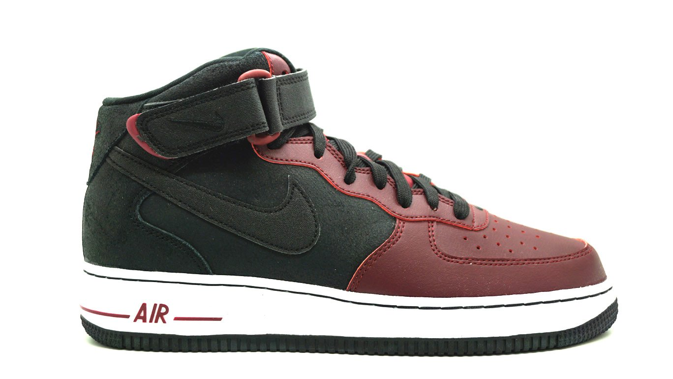 sale retailer e8466 f25df Galleon - Nike Men s Air Force 1 Mid 07 Trainers, Black Red   White (Black  Black-Team Red-White), 13 UK