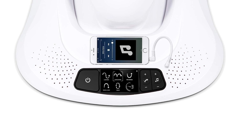Gris Oscuro 4moms mamaRoo Hamaca High-Tech para Beb/és Activada por Bluetooth Tejido de Malla Fresco con 5 Movimientos /Únicos