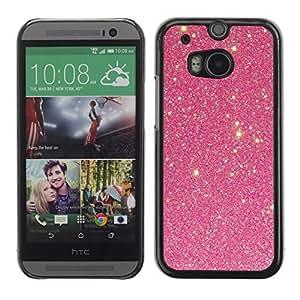 TopCaseStore / la caja del caucho duro de la cubierta de protección de la piel - Vignette Sky Stars Night Shining Cosmos - HTC One M8
