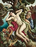 Oil Painting 'Thomas Hart Benton,Persephone,1939' Printing On High Quality Polyster Canvas , 12x16 Inch / 30x39 Cm ,the Best Basement Artwork And Home Decoration And Gifts Is This Replica Art DecorativePrints On Canvas