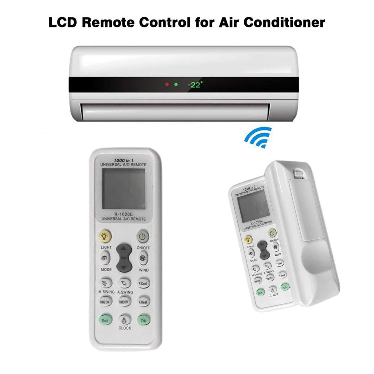 per condizionatore dAria EdBerk74 Telecomando Universale LCD A//C Muli RC 433 MHz Funzionamento Semplice K-1028E
