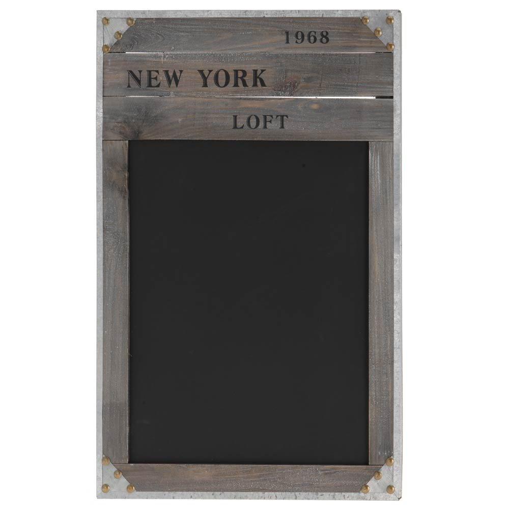 Tableau noir rètro avec cadre en bois \'NEW YORK 1968\' - ardoise à ...