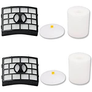 Amyehouse 2 PK Hepa & Foam Filters for Shark Rotator APEX Powered Lift-Away TruePet NV650, NV651, NV652, NV750W, NV751 & NV752, AX950, AX951, AX952 Vacuum Cleaner, Compares to Part # XFF650 & XHF650