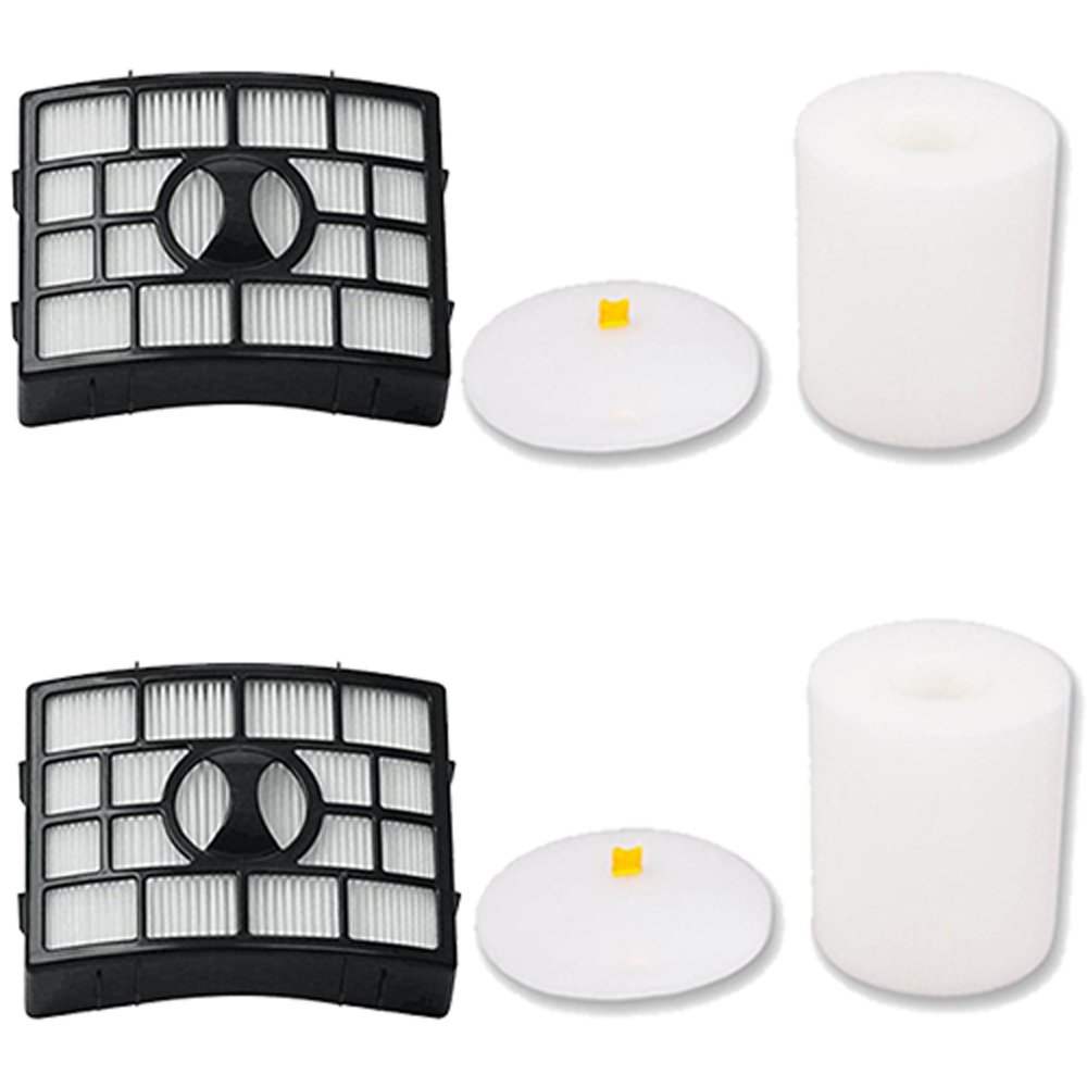 Amyehouse 2 Packs Hepa & Foam Filters for Shark Rotator Powered Lift-Away TruePet NV650, NV651, NV652, NV750W, NV751, NV752 & APEX AX950, AX951, AX952 Vacuum Cleaner,Compares to Part # XFF650 & XHF650