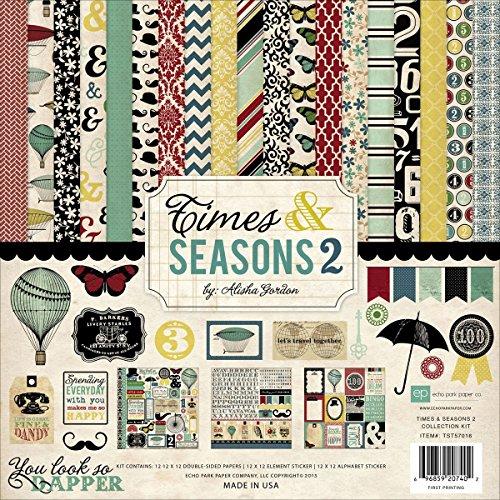 (Echo Park Paper Company TST57016 Times and Seasons 2 Kits)