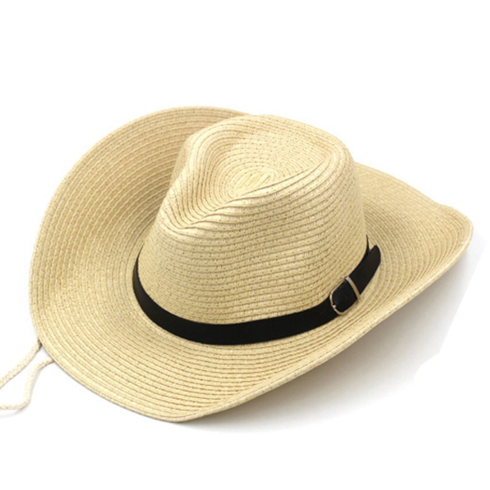 Hat Men and Women Summer Hats SPF Sun Hats Large Straw hat Outdoor Cowboy  hat Men s Beach hat-D One Size at Amazon Men s Clothing store  921936d1dd0