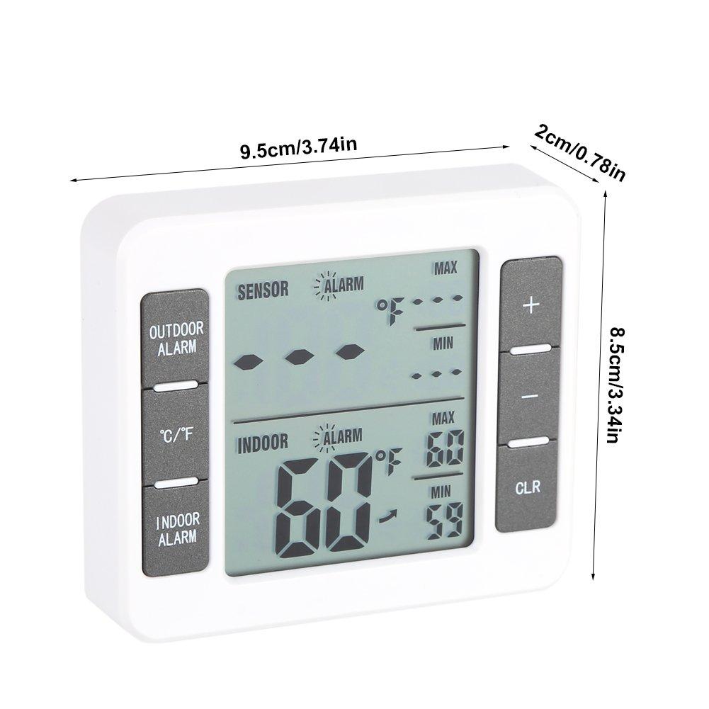 Fdit Termómetro de congelador de frigorífico Digital LCD ...