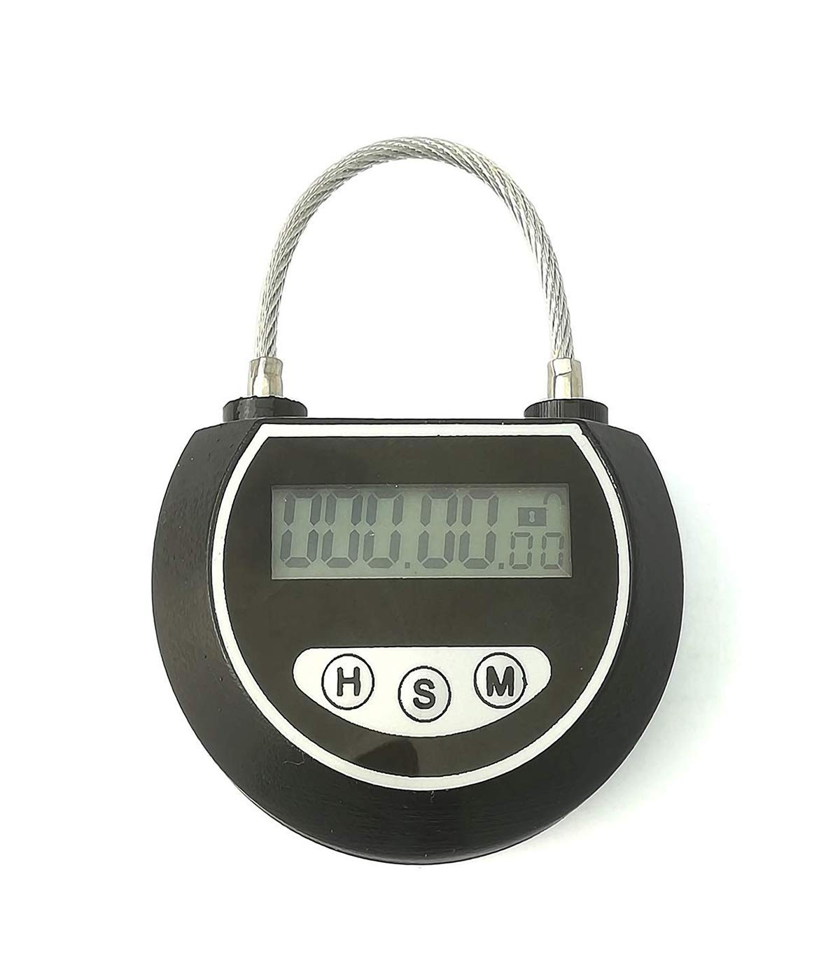 Electronic Timer Timed Locks Multi-Function Travel Lock Without Charging Use 3 Years (Black) by KMYS