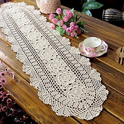 Amazon Laivigo Handmade Crochet Lace Oval Lucky Flower