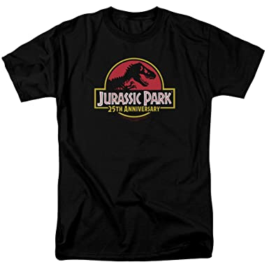 ca3b224b1 Image Unavailable. Image not available for. Color: Jurassic Park 25Th  Anniversary Logo Unisex Adult T Shirt for Men and Women