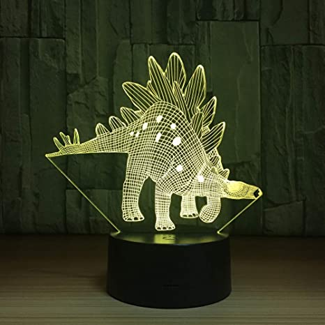 wangZJ Lámpara 3d / dinosaurio Luz de noche 3d para niños ...