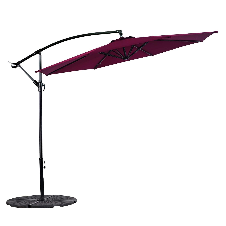 4519ea564a Cloud Mounatin 10 Ft Offset Patio Umbrella Outdoor Umbrella Aluminum 8 Ribs  100% Polyester with Cross Base Cantilever Hanging Market Umbrella, ...