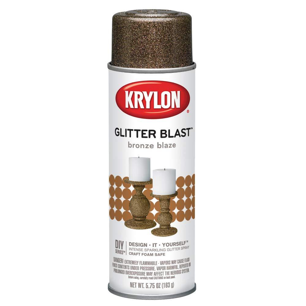 Krylon K03803A00 Glitter Blast, Bronze Blaze, 5.75 Ounce