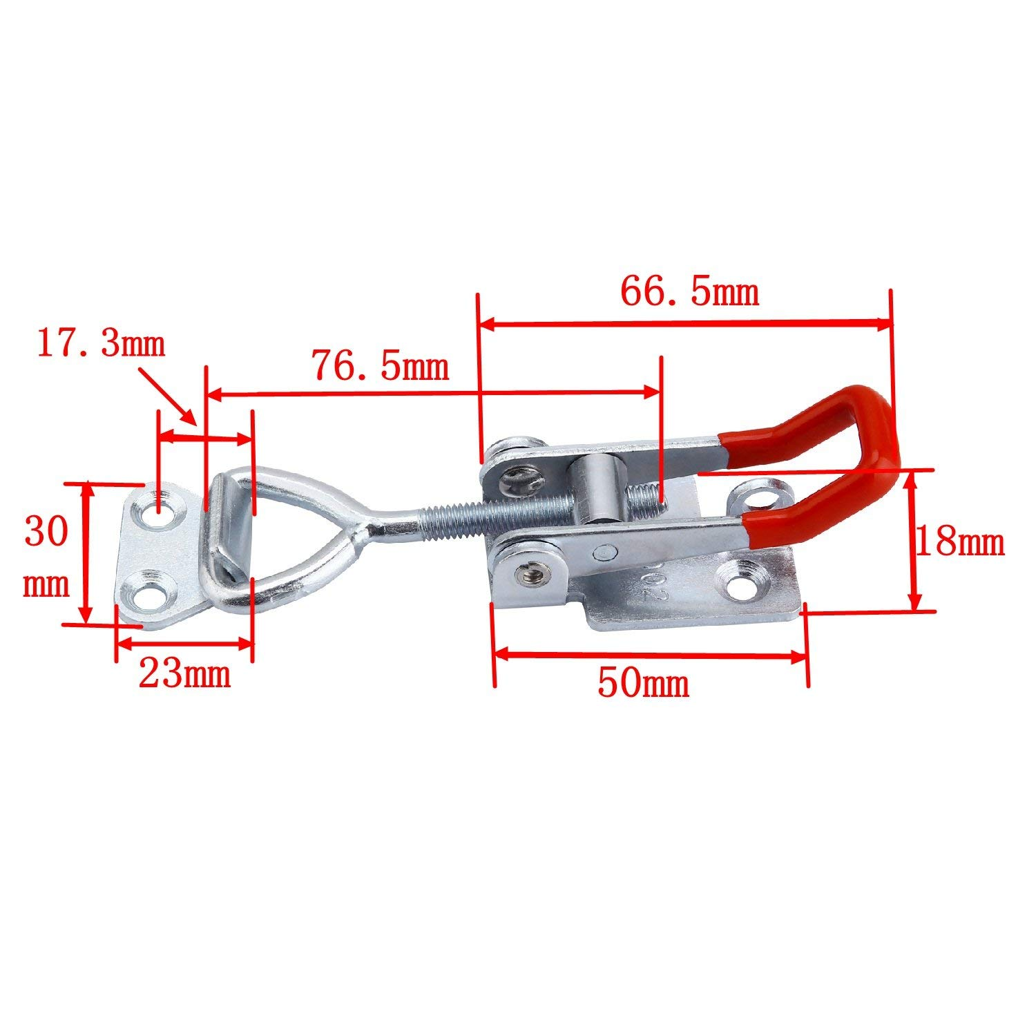 Adjustable Toggle Latch Clamp 4002,7 pack 180Kg 400Lbs Heavy Duty Hand Tool Quick Release Metal Holding Capacity Latch Type.Quick Release Pull Latch, Sturdy Metal Draw Latch