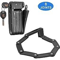 DINOKA Candado Bici Plegable, Cerradura de Bicicleta portátil de aleación de Acero de Alta Resistencia Seguridad…