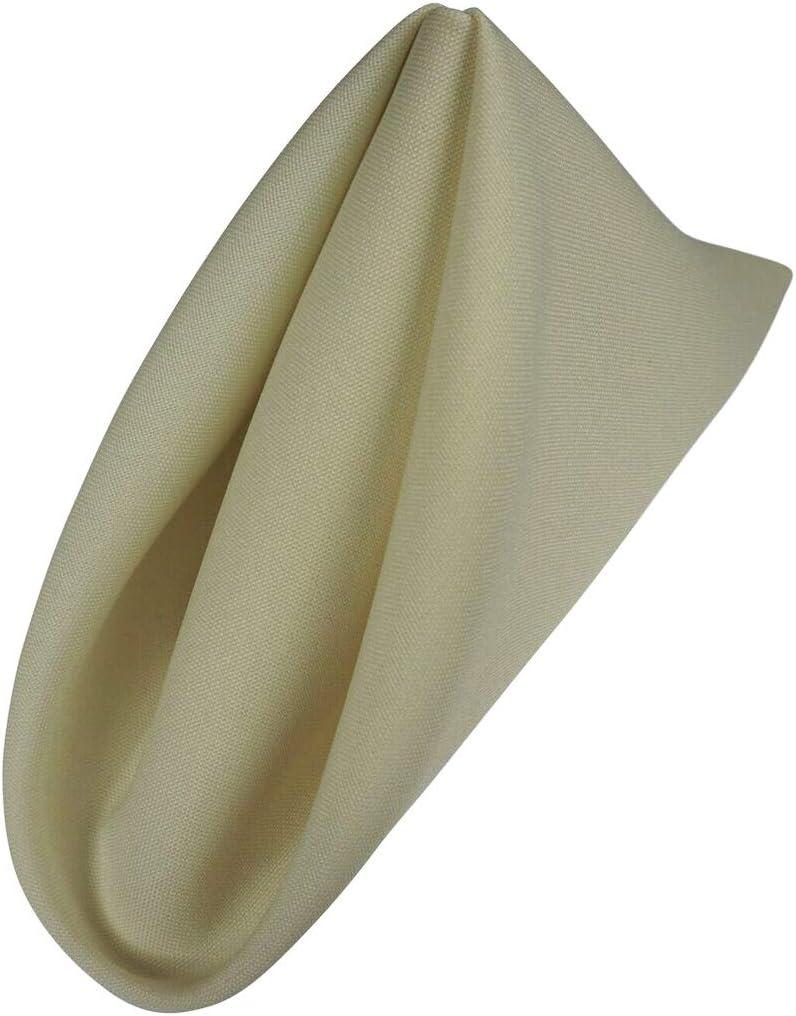 Gold AGN Linen Polyester Napkin 1-Dozen 18x18